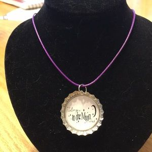 Jewelry - I love you homemade bottle cap necklace